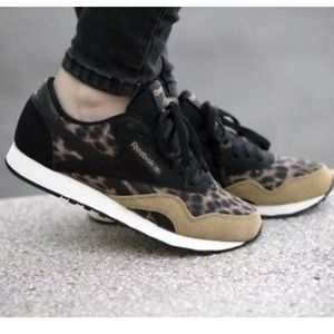 Reebok Shoes - Reebok leopard cheetah animal print sneakers 6f2a58f63